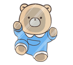 Cute bear and rabbit 8 by Torataro sticker #11754418