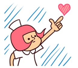 Bobbed Nurse 3 sticker #11758552