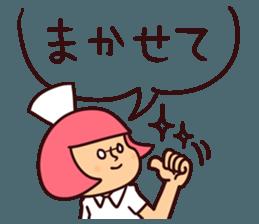 Bobbed Nurse 3 sticker #11758554