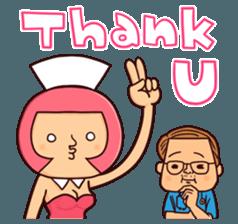 Bobbed Nurse 3 sticker #11758557