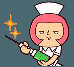 Bobbed Nurse 3 sticker #11758559