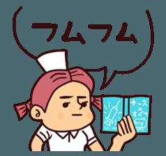 Bobbed Nurse 3 sticker #11758560
