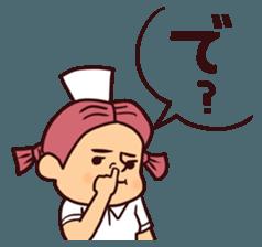Bobbed Nurse 3 sticker #11758561