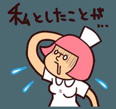 Bobbed Nurse 3 sticker #11758562