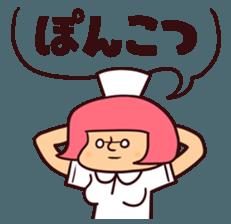 Bobbed Nurse 3 sticker #11758563