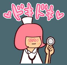 Bobbed Nurse 3 sticker #11758572