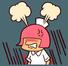 Bobbed Nurse 3 sticker #11758575