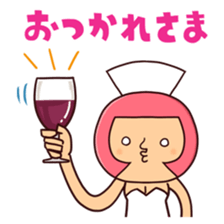 Bobbed Nurse 3 sticker #11758578