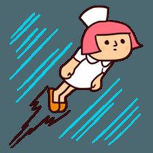Bobbed Nurse 3 sticker #11758584
