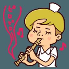 Bobbed Nurse 3 sticker #11758587
