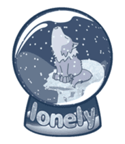 Moving Snow Globe English Ver.2 sticker #11760267