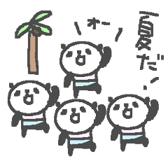 Summer cute panda stickers!