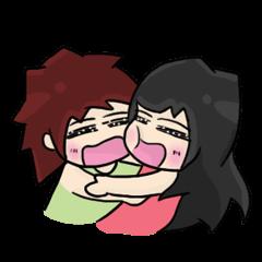 Animated Cute Hui: Sweet lovers