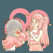 สติ๊กเกอร์ไลน์ เกี่ยวกับ รักรักรัก2 (ID)