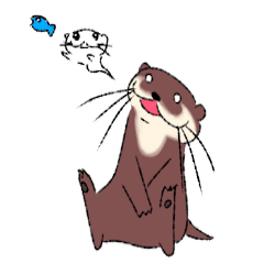 Oriental small-clawed otter sticker