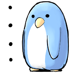 Unrestrained penguin Sticker