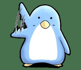 Unrestrained penguin Sticker sticker #11801366