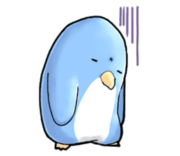 Unrestrained penguin Sticker sticker #11801369