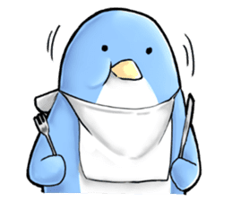 Unrestrained penguin Sticker sticker #11801381