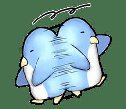 Unrestrained penguin Sticker sticker #11801384