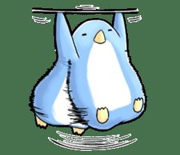 Unrestrained penguin Sticker sticker #11801390