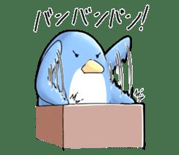 Unrestrained penguin Sticker sticker #11801394