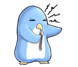 Unrestrained penguin Sticker sticker #11801395