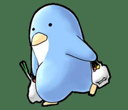 Unrestrained penguin Sticker sticker #11801396