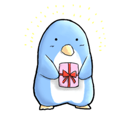 Unrestrained penguin Sticker sticker #11801398