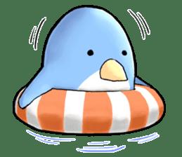 Unrestrained penguin Sticker sticker #11801403