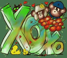 Rossy 3D bears sticker #11808055