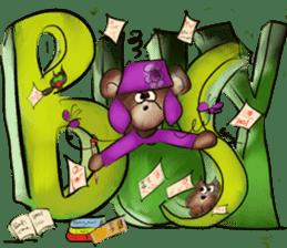 Rossy 3D bears sticker #11808084