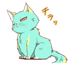 Cats and fish sticker #11808764