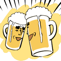 Animation! beerSticker!!