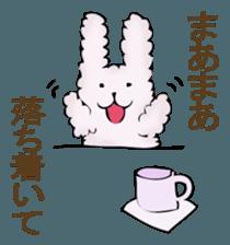 With quiet rabbit, mother imitation sticker #11818668