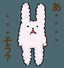 With quiet rabbit, mother imitation sticker #11818669