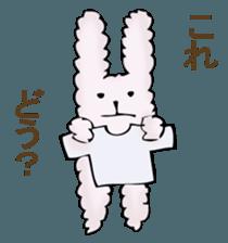 With quiet rabbit, mother imitation sticker #11818677
