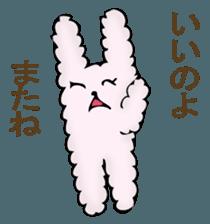 With quiet rabbit, mother imitation sticker #11818683