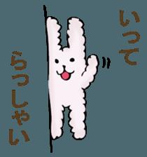 With quiet rabbit, mother imitation sticker #11818684