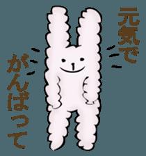 With quiet rabbit, mother imitation sticker #11818689