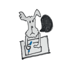 wire fox terriar sticker #11820297
