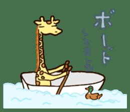 Life of cute giraffe.Puns version. sticker #11823192