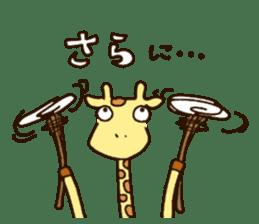 Life of cute giraffe.Puns version. sticker #11823199