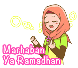 Euis Geulis Hijab: Ramadhan & Daily Talk sticker #11828910