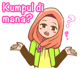 Euis Geulis Hijab: Ramadhan & Daily Talk sticker #11828921