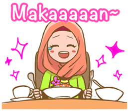 Euis Geulis Hijab: Ramadhan & Daily Talk sticker #11828925