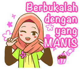 Euis Geulis Hijab: Ramadhan & Daily Talk sticker #11828926