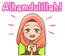 Euis Geulis Hijab: Ramadhan & Daily Talk sticker #11828927