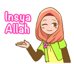 Euis Geulis Hijab: Ramadhan & Daily Talk sticker #11828928