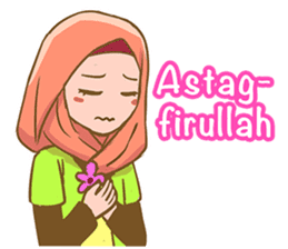 Euis Geulis Hijab: Ramadhan & Daily Talk sticker #11828929